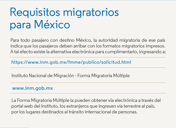 Requisitos Migratorios para Mexico